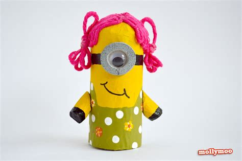 minion crafts for toilet roll craft make a minion