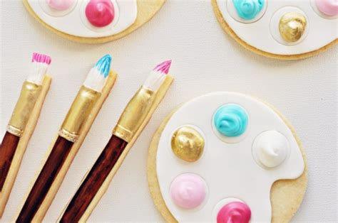 paint with a twist ta artist s palette paintbrush cookies with a special