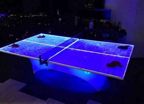 ping pong lights led ping pong table 171 los angeles partyworks inc