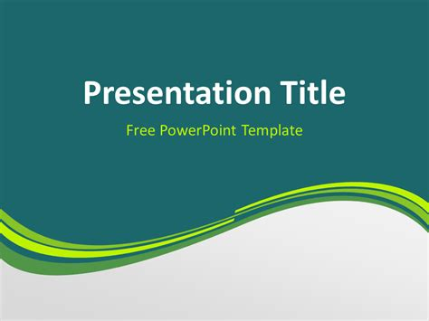 Green Wave PowerPoint Template   PresentationGO.com