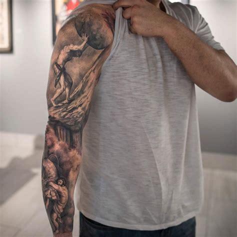 sisyphus amp boulder hercules amp nemean lion best tattoo