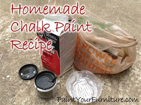 chalk paint plaster of recipe chalk paint recipe plaster of is 1