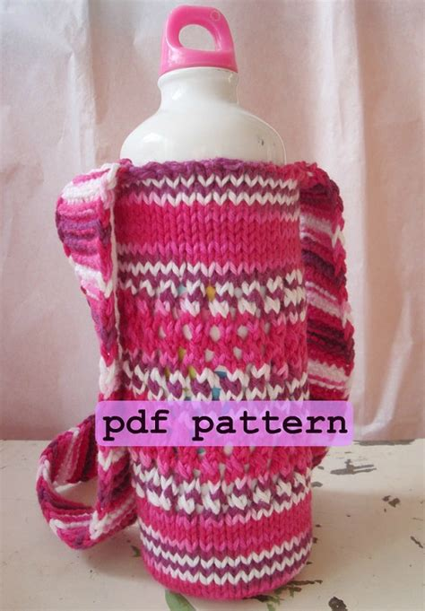 pattern holder knitting bottle carrier knitting pattern knit water bottle holder