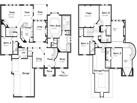house plans 5 bedrooms 2 story 5 bedroom house plans 2018 house plans
