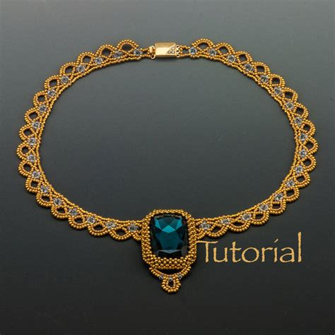 bead jewelry tutorials beaded necklace tutorial sparkling lace collar by jewelrytales