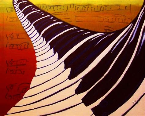 acrylic painting notes rainbow piano keyboard twist in acrylic paint with sheet
