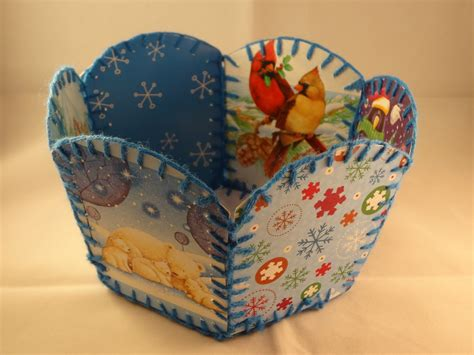 how to make vintage cards recycled card basket with yoyomax12
