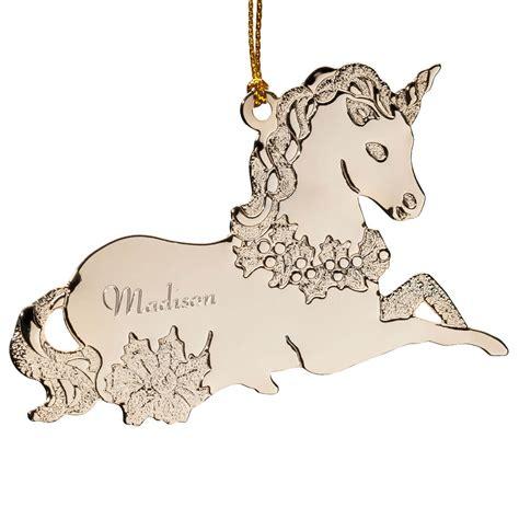 unicorn ornament personalized unicorn ornament ornament
