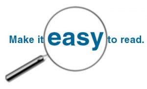 easy to read how a web copywriter writes easy to read content