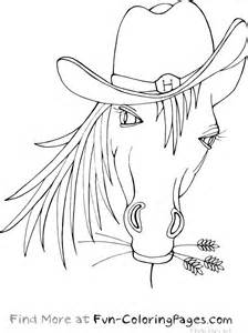 free coloring pages of horse heads