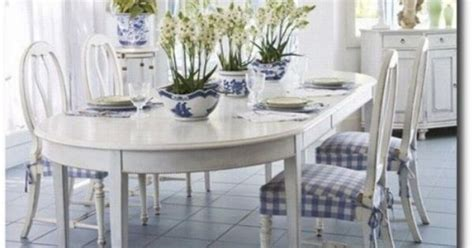 chalk paint zero voc blue and white home swedish dining room set country