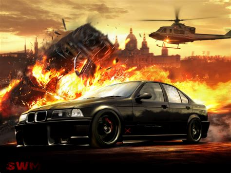 Car Explosion Wallpaper by Bmw E36 By Swm1 On Deviantart