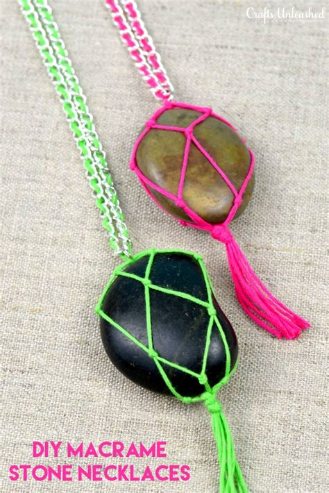 stones to make jewelry diy necklace tutorial crafts unleashed