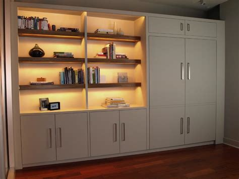 bookshelf with murphy bed contemporary bookcases