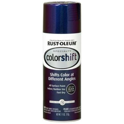 home depot rustoleum spray paint colors rust oleum specialty 11 oz galaxy blue color shift spray