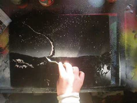 spray paint tutorial space spray painting a space pallette knife tutorial
