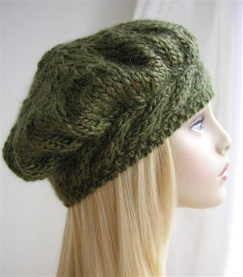 free knitting patterns for hats you to see weekend cable beret hat knitting pattern