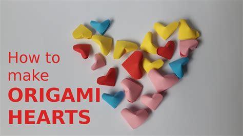 mini origami hearts how to make mini origami