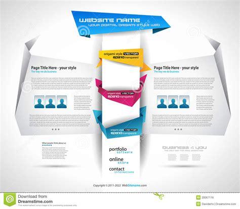origami websites for origami website design royalty free stock image