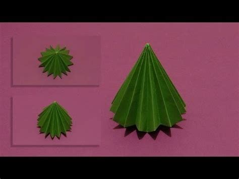 origami 3d tree how to make an origami 3d tree 01