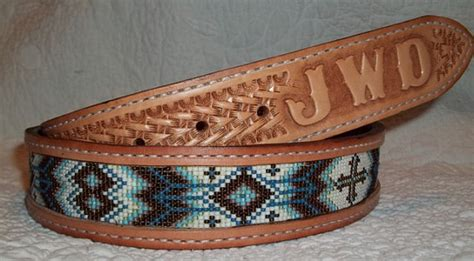 how to make a beaded belt beaded leather belt