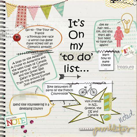 my list vanilla scraps my list