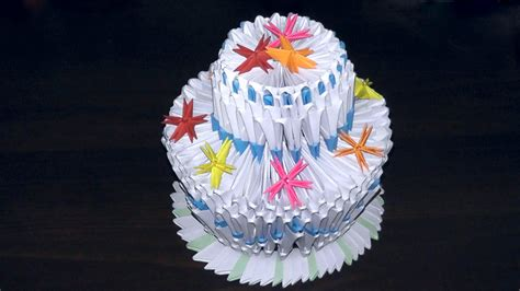 how to make a origami cake 3d origami birthday cake pie tutorial