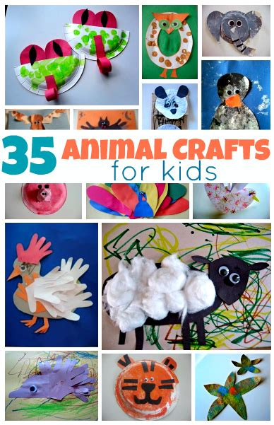 easy animal crafts for 35 easy animal crafts for diy craft projects