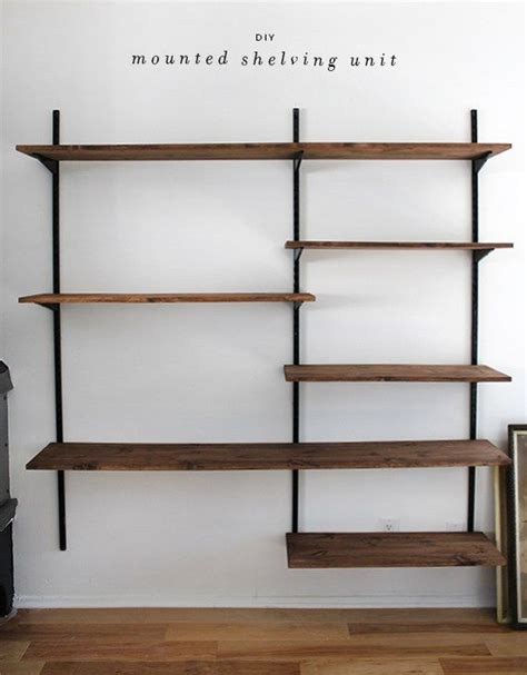 wall mounted bookshelves wood 25 best ideas about wall mounted shelves on