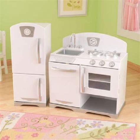 kid craft vintage kitchen new kidkraft 2pc retro kitchen white ebay