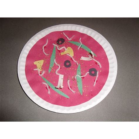 paper plate pizza craft three early childhood crafts for healthy food nutrition