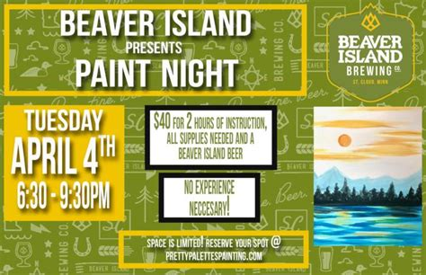paint nite island coupon code beaver island brewery beaver island brewing co