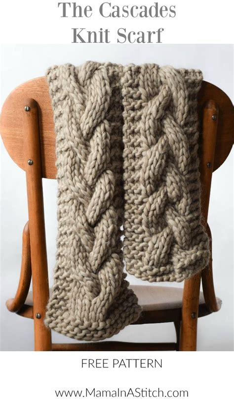 easy cable knit scarf 17 best ideas about knit scarf patterns on