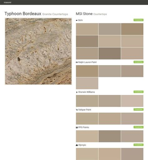 matching behr paint colors to valspar typhoon bordeaux granite countertops countertops msi