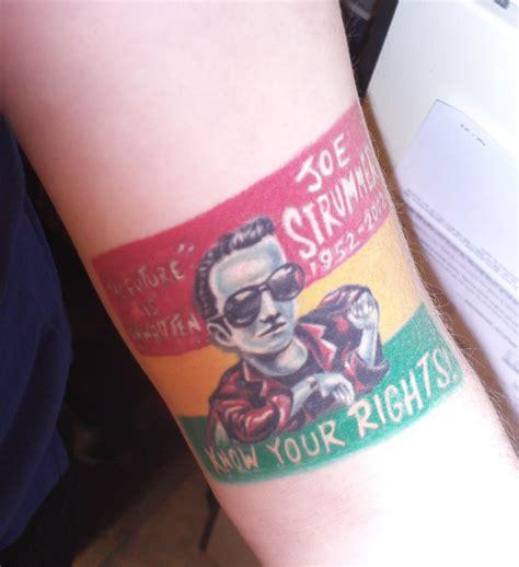 joe strummer tattoo tattoos and tattoo ideas pinterest