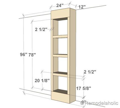 depth of bookshelves free plans for built in bookshelves