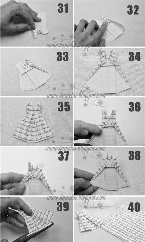 how to make a paper dress origami haniela s origami dress tutorial