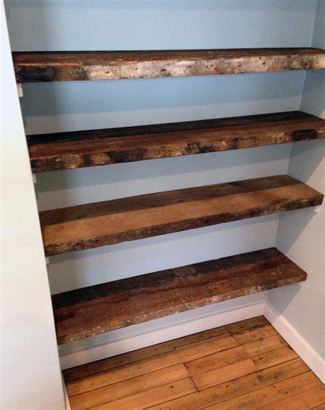wood plank shelves 31 magnificent reclaimed wood shelves