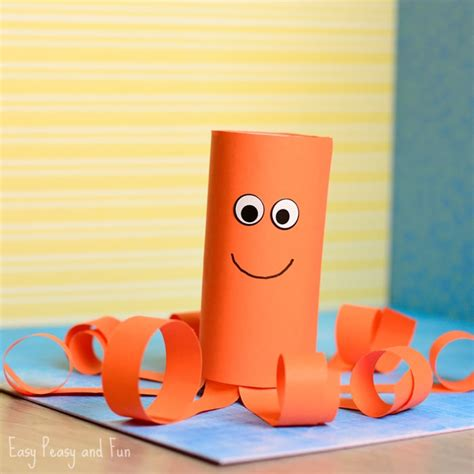 paper rolling craft toilet paper roll octopus craft easy peasy and