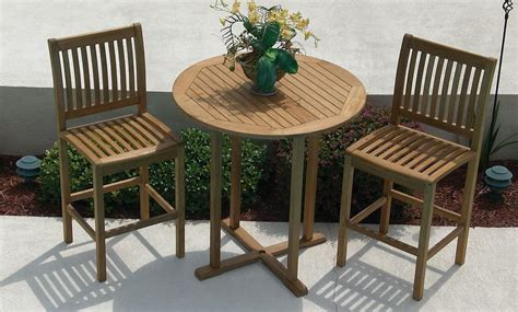 patio furniture bar table teak bar table and chairs pipefinepatiofurniture