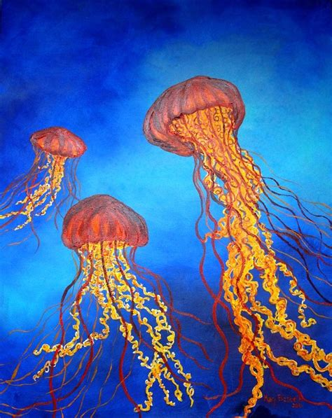 acrylic paint jellyfish acrylic paintings of jellyfish search painting