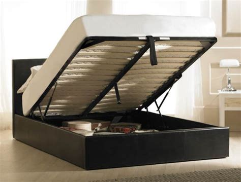 up beds with frame bestpricebeds valencia faux leather lift up storage bed