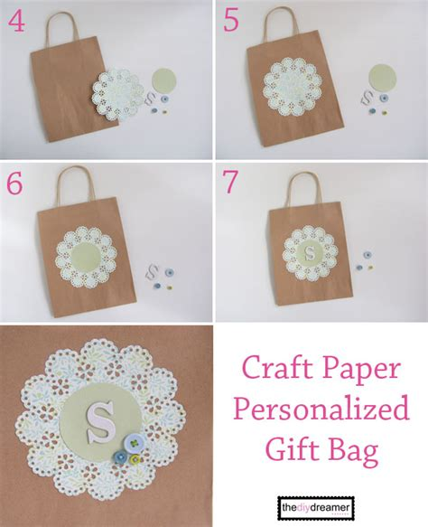 martha stewart craft paper craft paper personalized gift bag the d i y dreamer