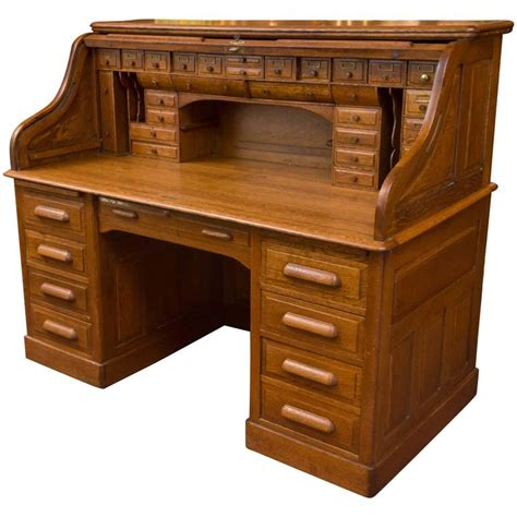 roll top desk exceptional oversized s type oak roll top desk at 1stdibs