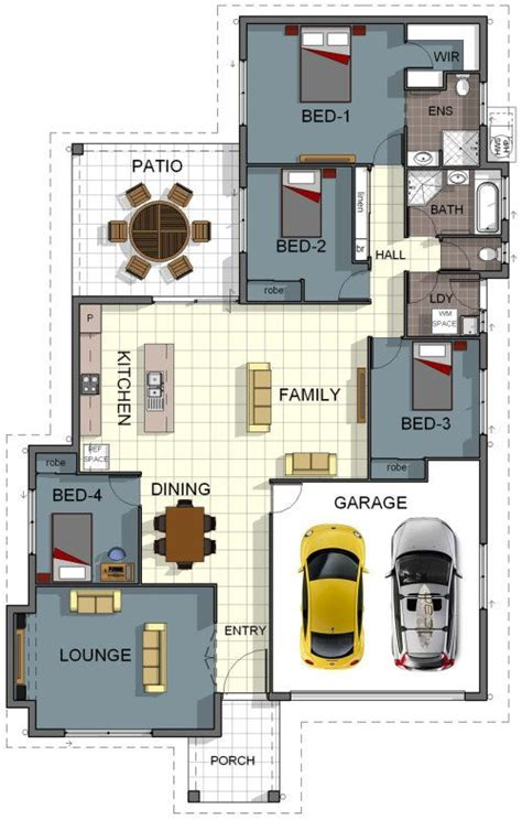 and bathroom house plans floor plan house design 4 bedroom 2 bathroom