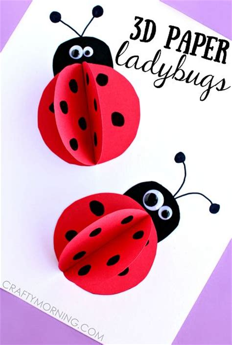 ladybug crafts for 3d paper ladybug craft for summer and for