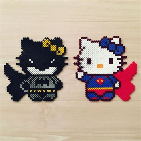 perler hello batman and superman hello perler original