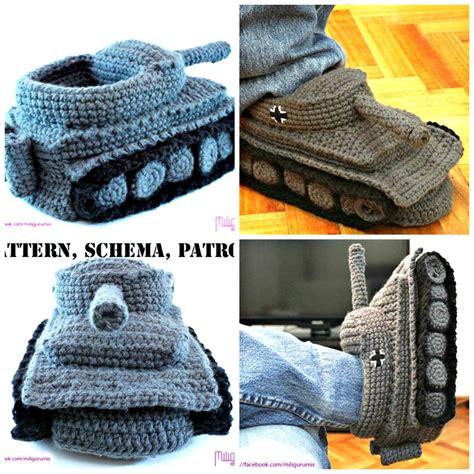 knitted tank slippers cool crochet tank slippers pattern beesdiy