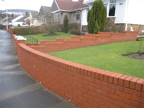 brick walls for gardens cwm llynfi bricklaying 9 inch brick garden wall