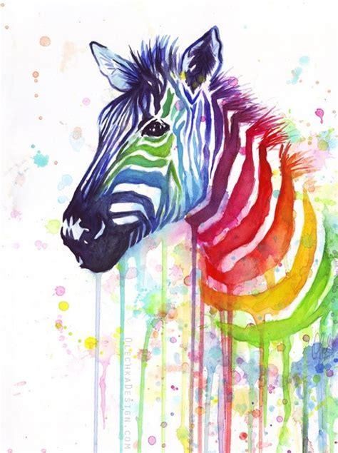 paint colors that go with zebra print sulu boya hayvan boyama 214 rnekleri